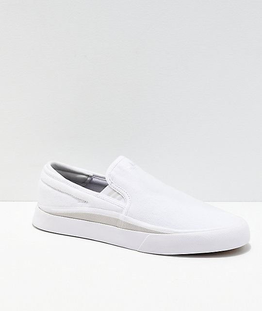 adidas Sabalo White & Grey Canvas Slip-On Shoes