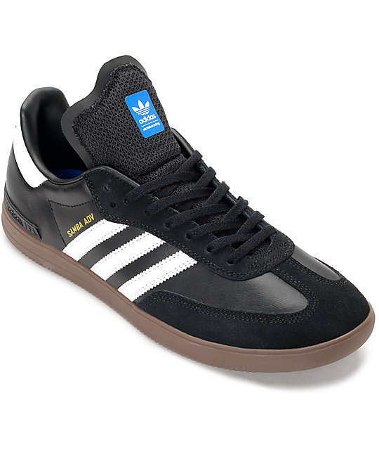 meet 6006b 65fa6 adidas Samba ADV Black, White  Gum Shoes  Zumiez