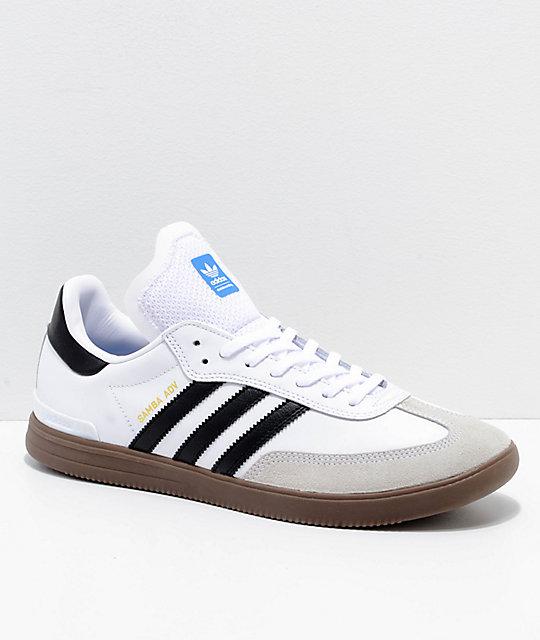 huge selection of 09df1 26f36 adidas Samba ADV White, Black   Gum Shoes   Zumiez