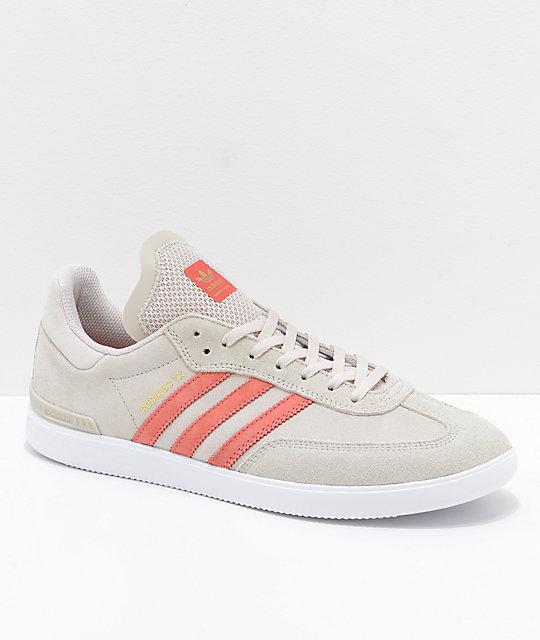 minorista en línea gran selección de de calidad superior adidas Samba ADV zapatos en gris, rosa y blanco