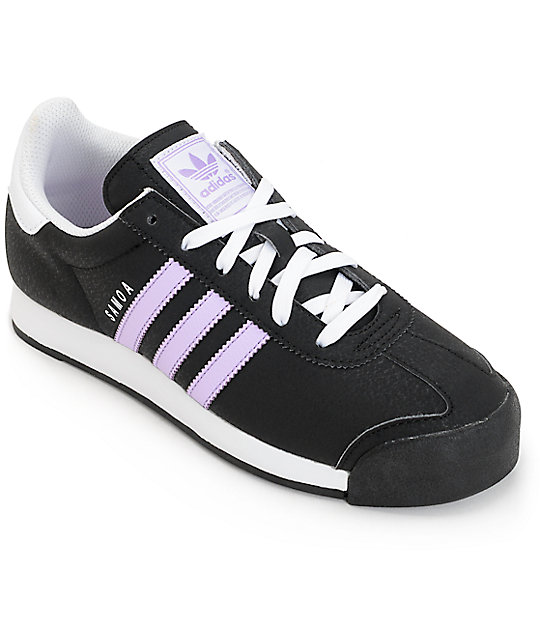 27cbf8a00083 adidas Samoa Black   Purple Women s Shoes