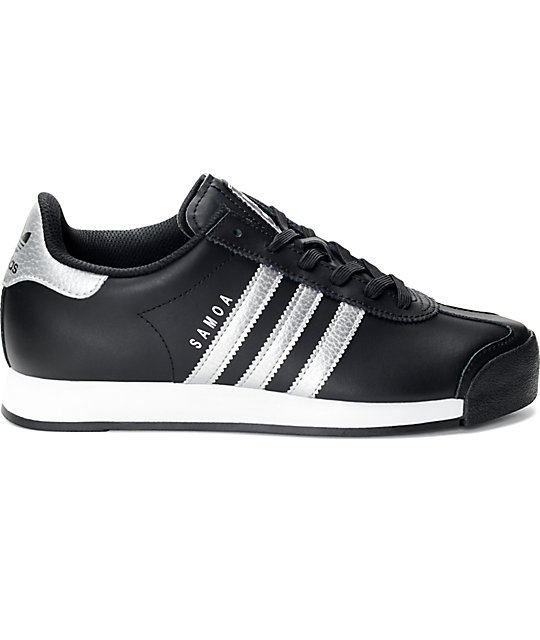 ... adidas Samoa Black   Silver Women s Shoes 0ed06e339