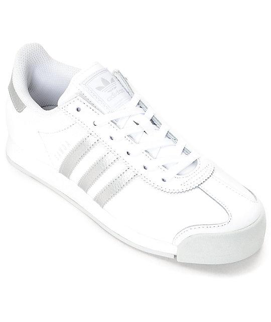 db6c1b2e74118 adidas Samoa White & Silver Women's Shoes