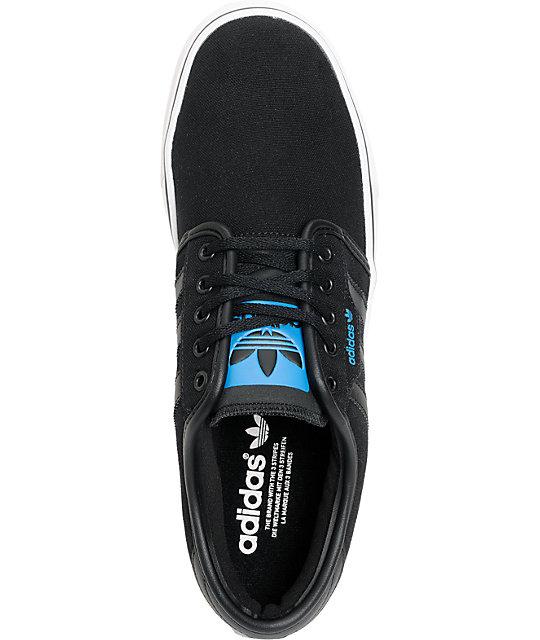 9ae471065a9a ... adidas Seeley Black Canvas Shoes ...