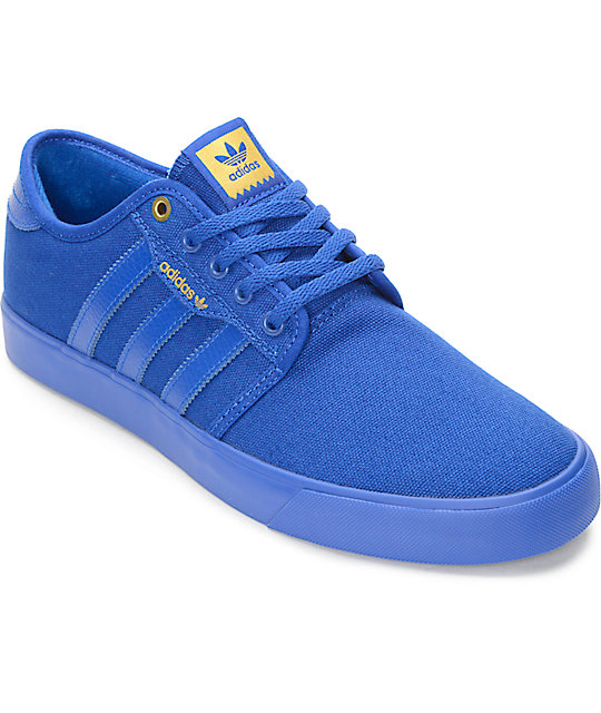 best loved 3503a 3b9bb adidas Seeley Mono Royal Blue Shoes  Zumiez
