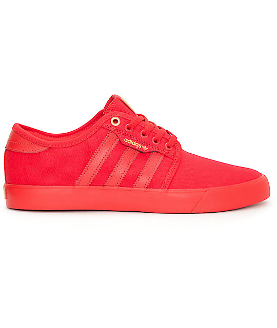 ... adidas Seeley Mono Scarlet Red Shoes 7e1a6cadc