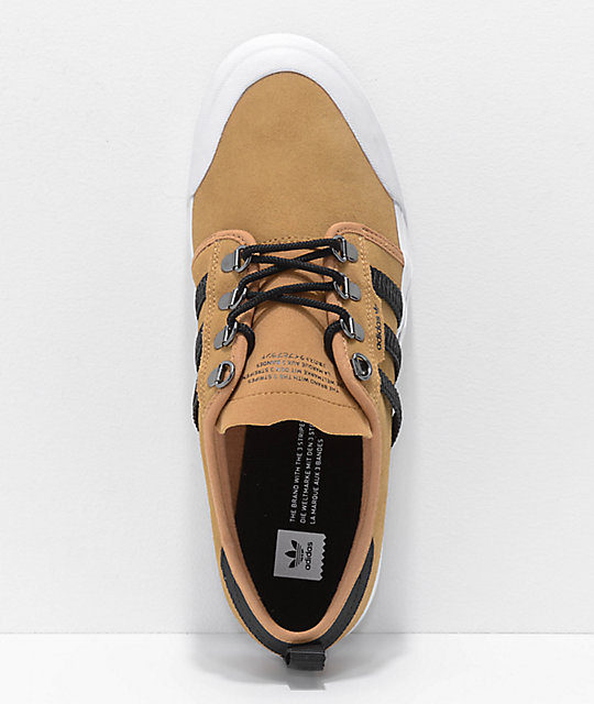 the best attitude 3924c a3d8a ... adidas Seeley Outdoor Mesa Brown, Black   White Shoes ...