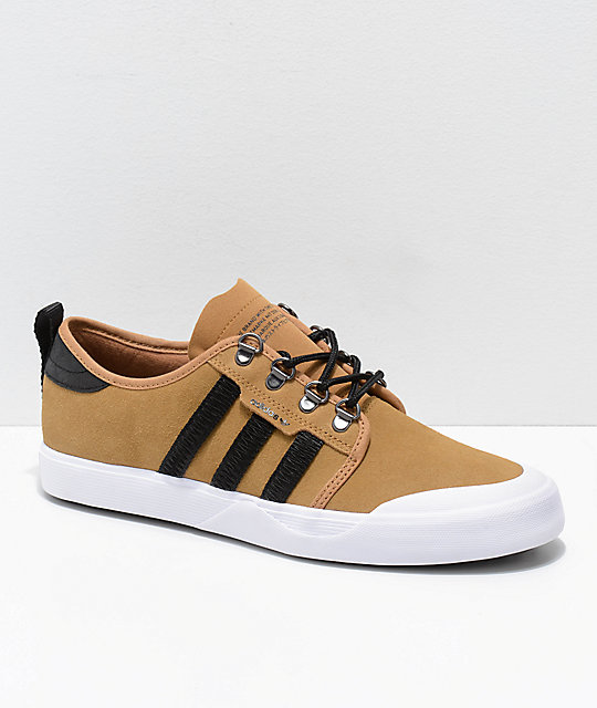 64ddbbdc35d4 adidas Seeley Outdoor Mesa Brown, Black & White Shoes