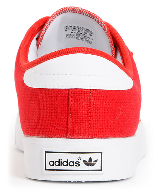 adidas Seeley University Red & Running White Canvas Shoes
