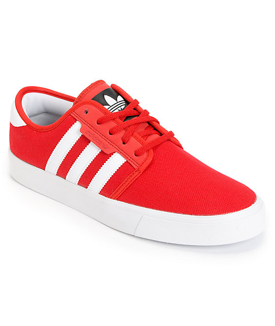 separation shoes 7071a b439b adidas Seeley University Red   Running White Canvas Shoes   Zumiez