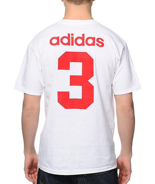 Rojo y blanco Adidas Camiseta T Shirt Design Collections