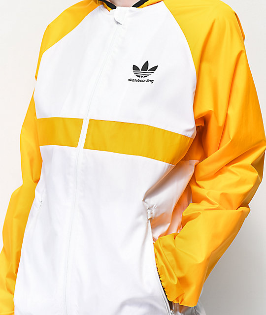 adidas Skate Orange & White Windbreaker Jacket