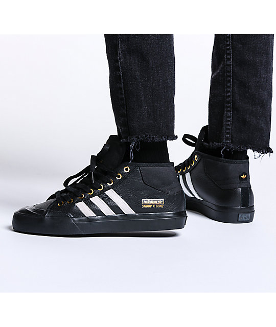 adidas Snoop x Gonz LA Stories Matchcourt Mid Black Shoes