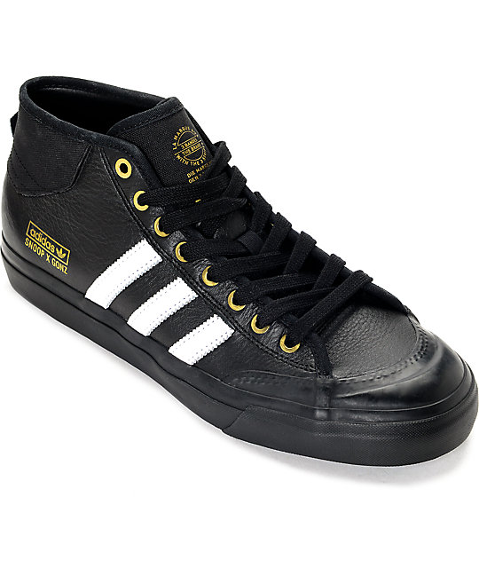 adidas Snoop x Gonz LA Stories Matchcourt Mid Black Shoes ...