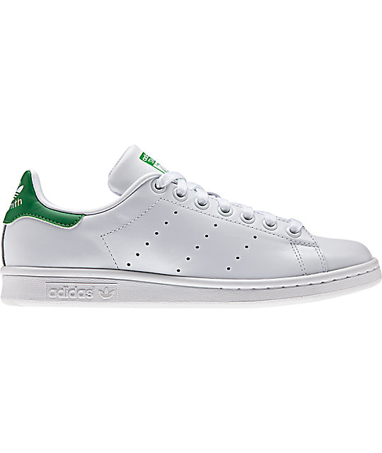 buy online ad997 adb7d adidas Stan Smith White & Green Shoes (Womens)