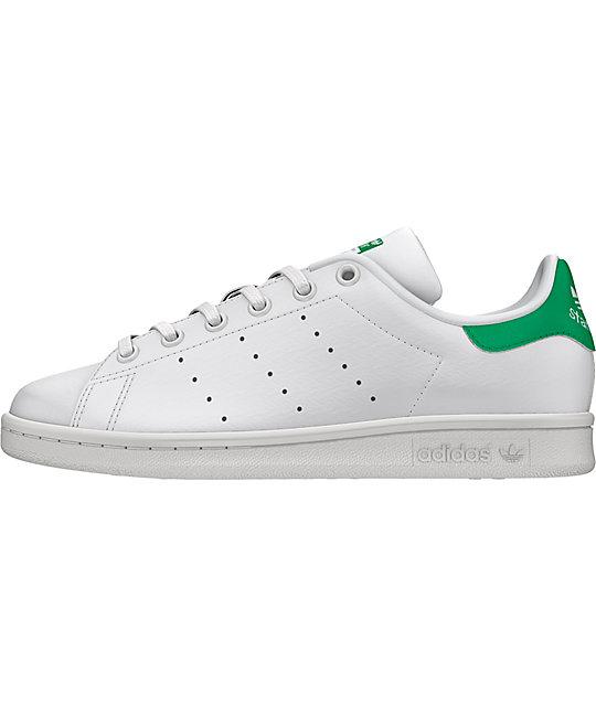 cheap for discount da0ee 5d965 adidas Stan Smith White & Green Shoes