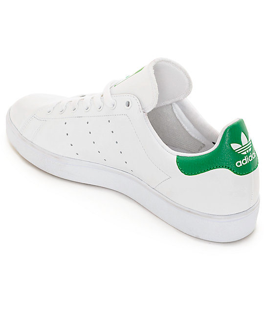 adidas Stan Smith White & Green Shoes