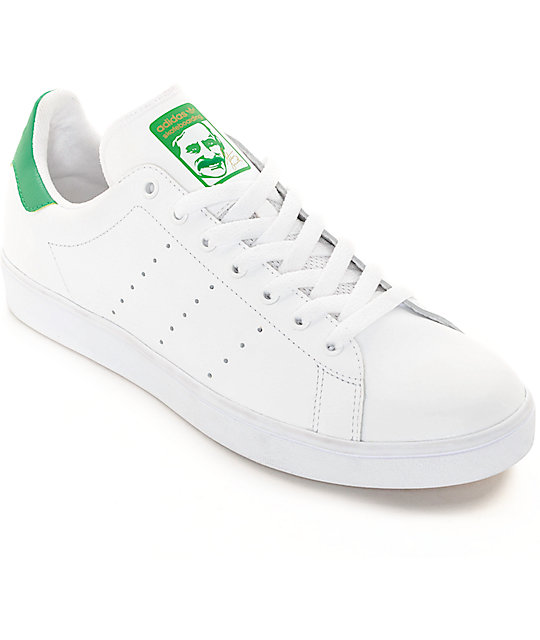 sports shoes 8ad20 e27be adidas Stan Smith White  Green Shoes  Zumiez