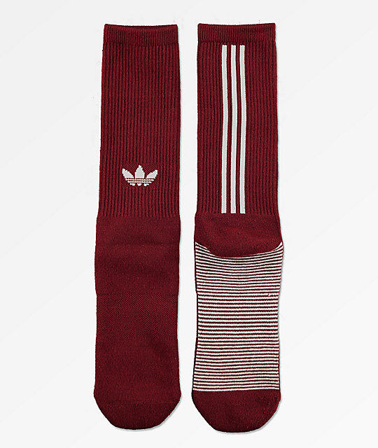 adidas Statement Burgundy Crew Socks