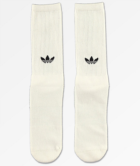adidas Statement White Crew Socks