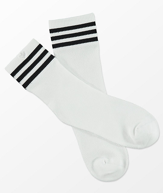 adidas Striped Mesh White Anklet Socks