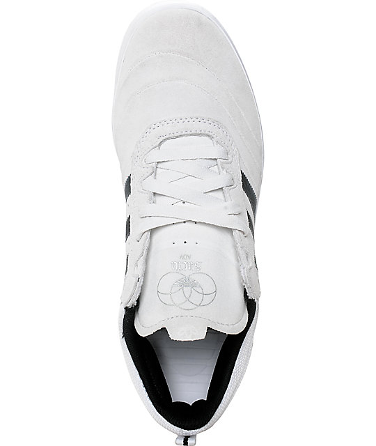adidas Suciu ADV White, Black & Silver Suede Shoes