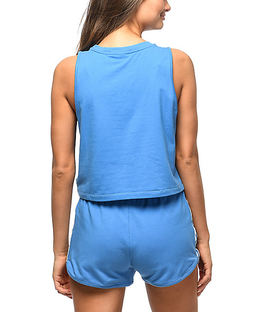 adidas Super Blue Crop Tank Top