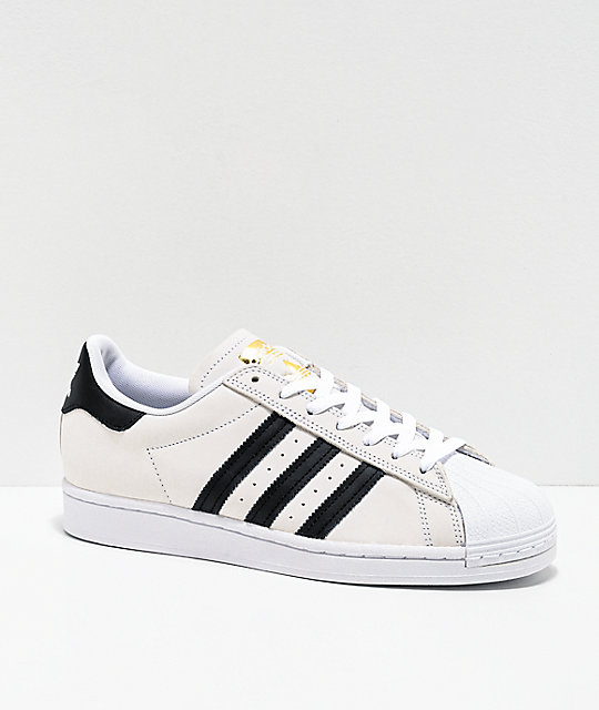 adidas Superstar ADV White, Black & Gold Shoes