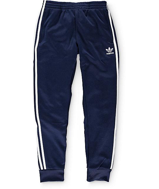 80a1d395584 adidas Superstar Cuffed Track Pants | Zumiez