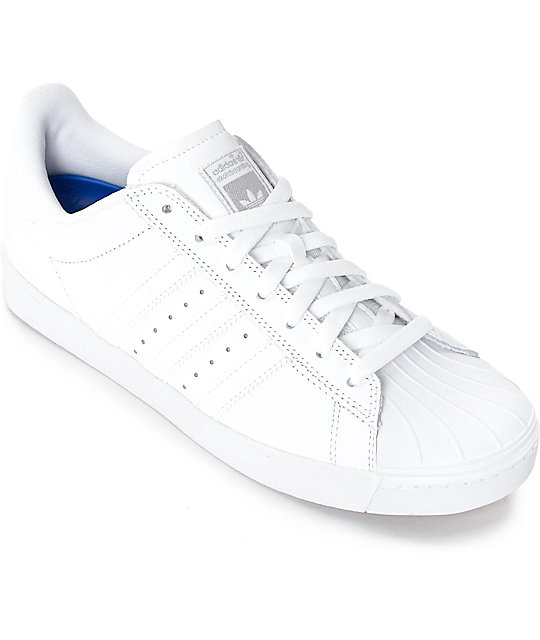 d6e6ce5f2f37 adidas Superstar Vulc ADV All White Shoes