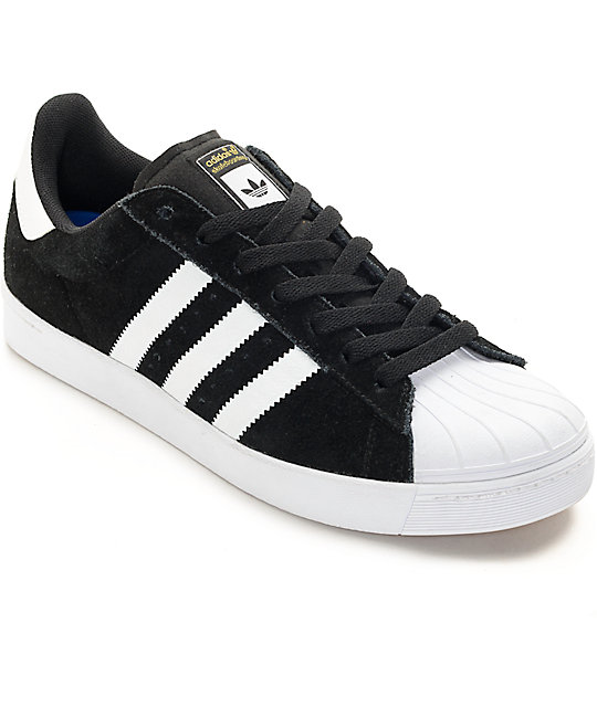 adidas Superstar Vulc ADV Black & White Shoes ...