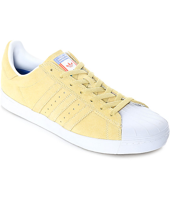 adidas superstar yellow suede