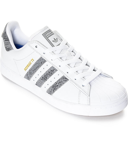 b1dd04fcdcff adidas Superstar Vulc ADV White   Snake Shoes