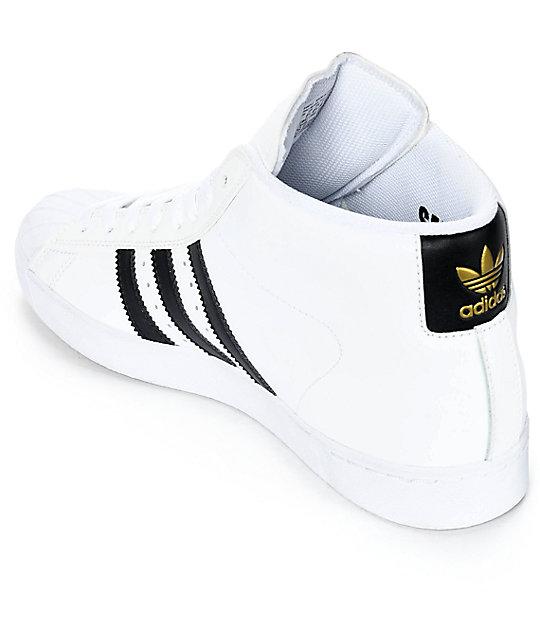 61b999cb5c1f6 adidas Superstar Vulc Mid White & Black Shoes | Zumiez