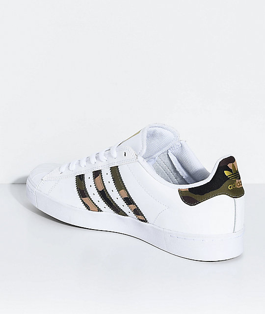 adidas Superstar Vulc White & Camo Shoes