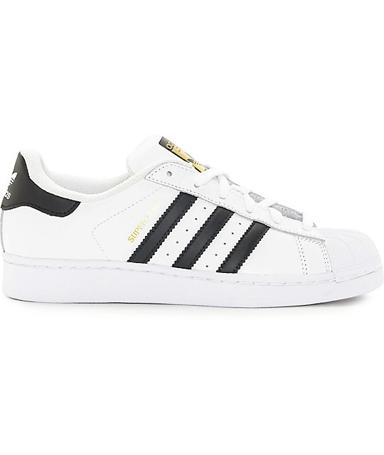 adidas Superstar White & Black Womens Shoes