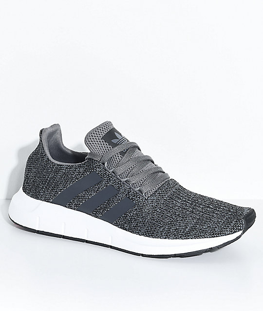 adidas Swift Grey, Black & White Shoes