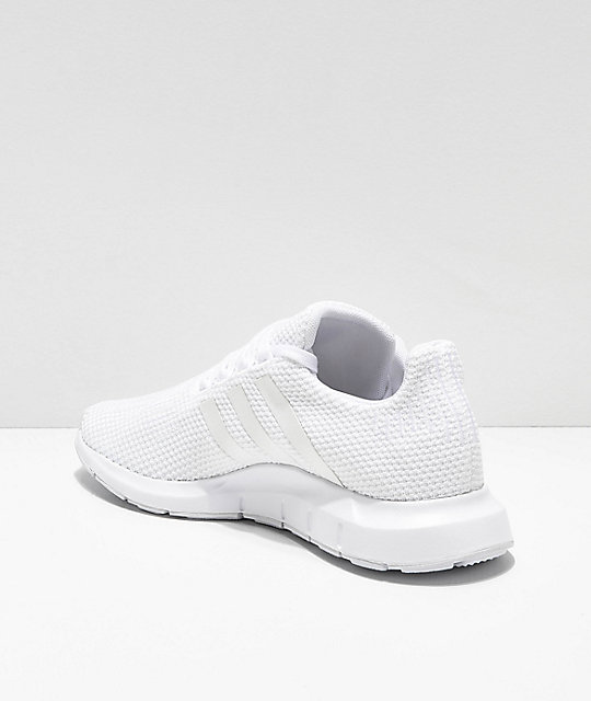 ficción objetivo beneficio  adidas Swift Run All White Shoes | Zumiez