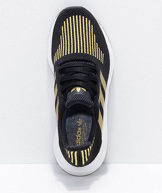 2b68cffcb05ed ... adidas Swift Run Black   Gold Shoes ...