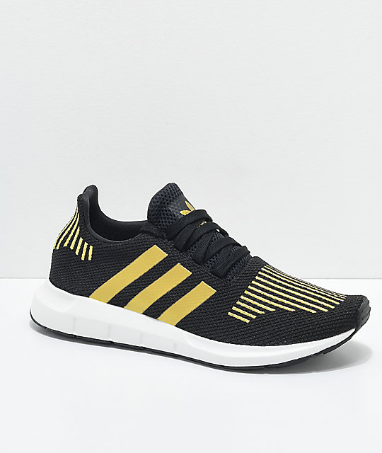 fe41f2e3c adidas Swift Run Black   Gold Shoes