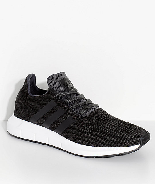 adidas Swift Run Black & White Shoes