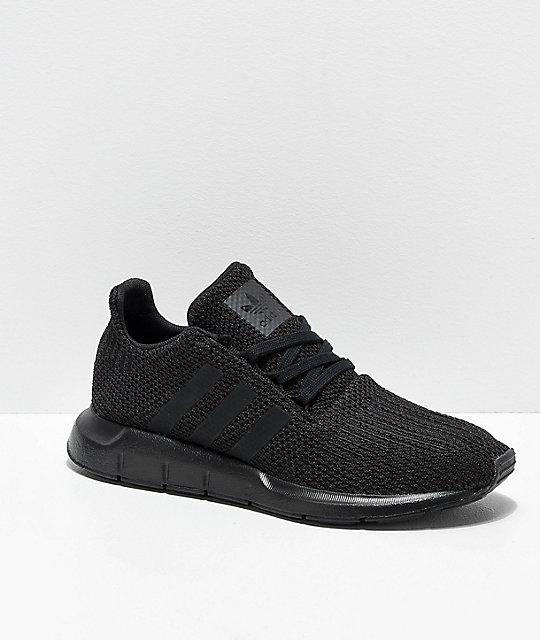 1fef0a2eda119 adidas Swift Run Black Shoes