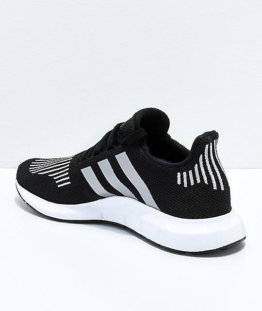 4929053aba9a1 ... adidas Swift Run Core Black   Silver Shoes ...