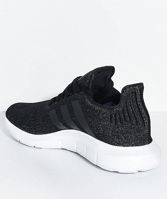 d35f22649a5935 ... adidas Swift Run Core Black   White Shoes ...