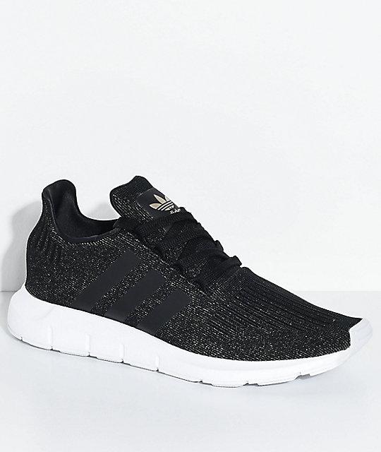 8a3782d15b adidas Swift Run Core Black & White Shoes