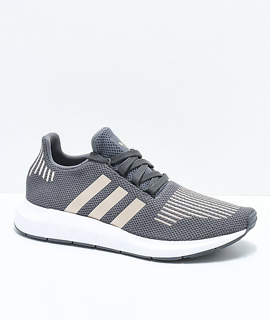 reputable site edf88 99c21 adidas Swift Run Grey, Copper  White Shoes  Zumiez
