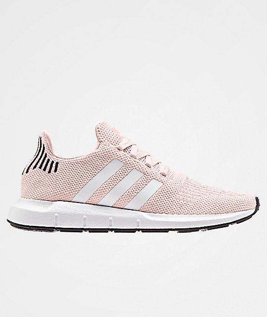 newest f33e6 9b107 adidas Swift Run Icey Pink, White   Black Shoes   Zumiez.ca