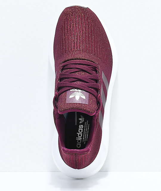 adidas Swift Run Maroon & White Shoes