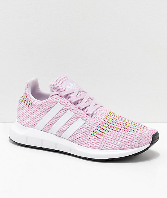 running shoes good texture superior quality adidas Swift Run Pink, White & Multicolored Shoes