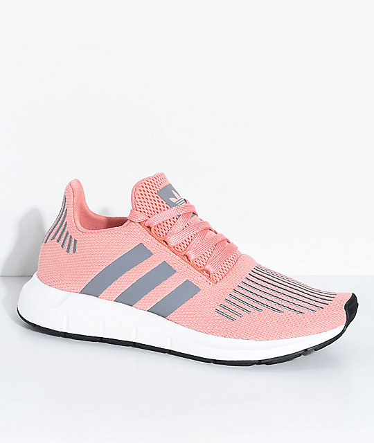 adidas Swift Run Trace Pink & Grey Shoes ...